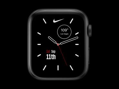 Nike Apple Watch Face UI Design ux designer ui ux design uiux nike ui design nike sports app dark mode product designer product design mockup apple watch design watch ui ui designer ui design apple watch face