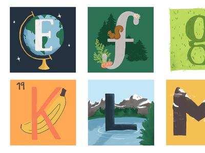 Nature alphabet