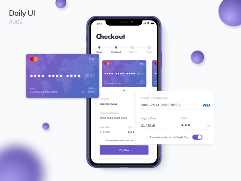 Credit Card Checkout dailyui002 002 violet form iphone checkout card dailyui design dribbble ux web ui