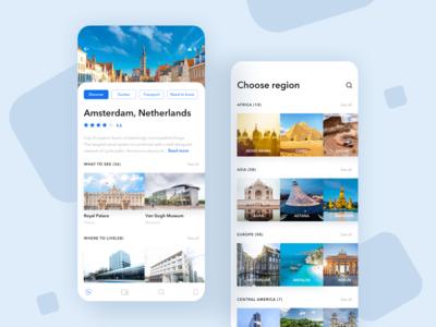 Travel Guide App UI design