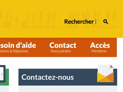 Header navigation search form header contact widget sidebar yellow orange blue green flat ui icons