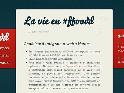 ffoodd blog typography font blue red serif ligature