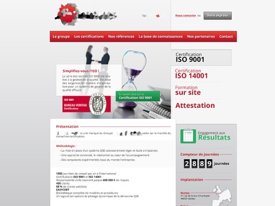 Home page home slide push red green asymetric wordpress