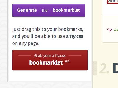 Alix styleguide documentation bookmarklet buttons button