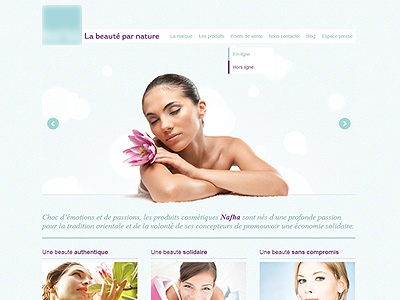 Home beauty grren pink beauty cosmetic slideshow wordpress dropdown navigation slide header baseline
