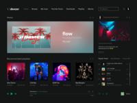 Deezer Interface streaming ux ui popular hits charts artist spotify playlist music streaming music web website design webdesign web design deezer music player music app branding design