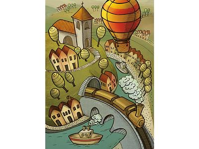Illustration for Kreslíkárna coloring photoshop and drawn hand