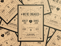We're Engaged Invitations