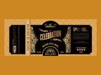 Celebration Beer Bottle Label