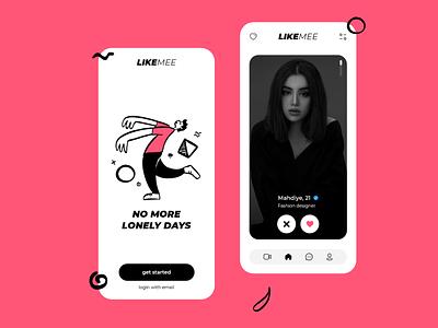 Likemee, dating app concept design iconly like icon date dating website datingapp dating dating app bigolive bumble badoo hinge tinder uiux uxdesign ux ui