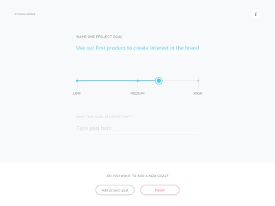 Project Goals in HolaBrief project goals goals ux briefing website online tool minimal clean vector process web flat ux ui design