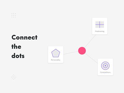 Connect the dots design process website online tool minimal clean vector web flat icon ux ui illustration design logo branding
