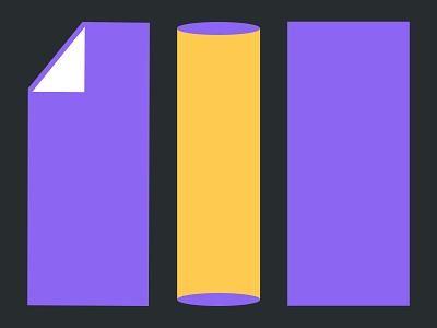 Visual exploration for HolaBrief ui design process concept process minimal clean icon flat vector illustration design branding