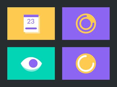 New illustrations style for HolaBrief calendar loading loader eye logo web design process concept process minimal clean icon flat vector illustration design branding
