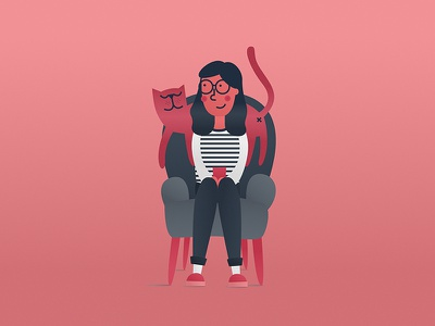girl with cat hungary happy catillustration illustrationart catlove cat vectorillustration vectors vectorart graphicdesigner graphicdesign illustration
