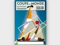 Affiche - Coupe du monde de football feminin