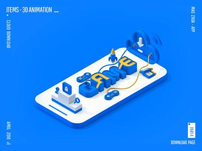 MAO ZHUA - APP 3D ANIMATION app animation banner ui web poster web design icon design c4d 3d