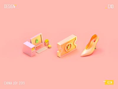 CHINA JOY 2019 - icon poster 3d c4d icon web design design