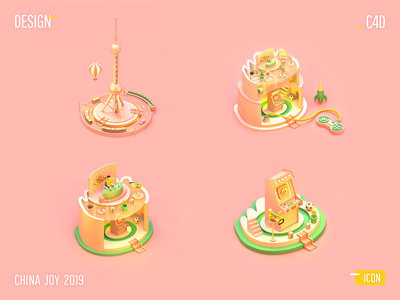 CHINA JOY 2019 - icon animation ui web design design icon 3d c4d