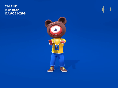 Sina image doll animation poster web design design animation c4d 3d