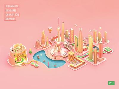 Sina Games China Joy 2019 KV animation design banner ui web web design font design 3d animation