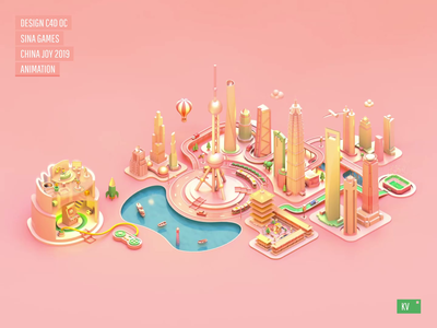 Sina Games China Joy 2019 KV animation design banner ui web web design font design 3d animation
