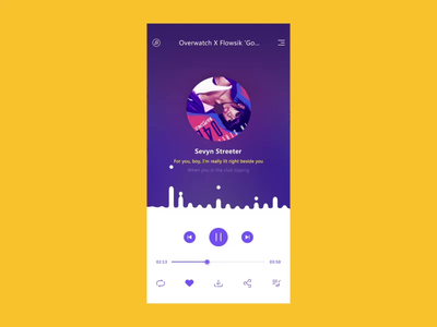 music app ui practice animation