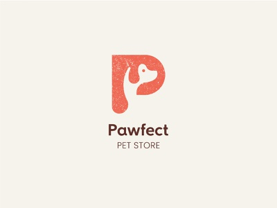 Pawfect Pet Store logo app pet store store pets pet logo graphic design illustration branding ui logo illustrator design art drawing dribbble behance