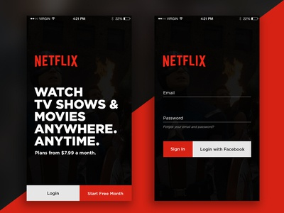 Netflix     Login Page chidozie app tv redesign in up sign login movies netflix ui daily