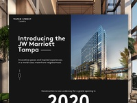 Water Street Tampa | JW Marriott Tampa Landing Page