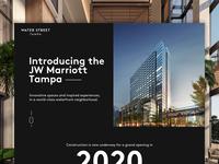 Water Street Tampa   JW Marriott Tampa Landing Page city hotel page landing website ux ui marriott jw tampa
