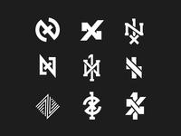 1x   WIP n time x 1 music artist identity brand logo monogram