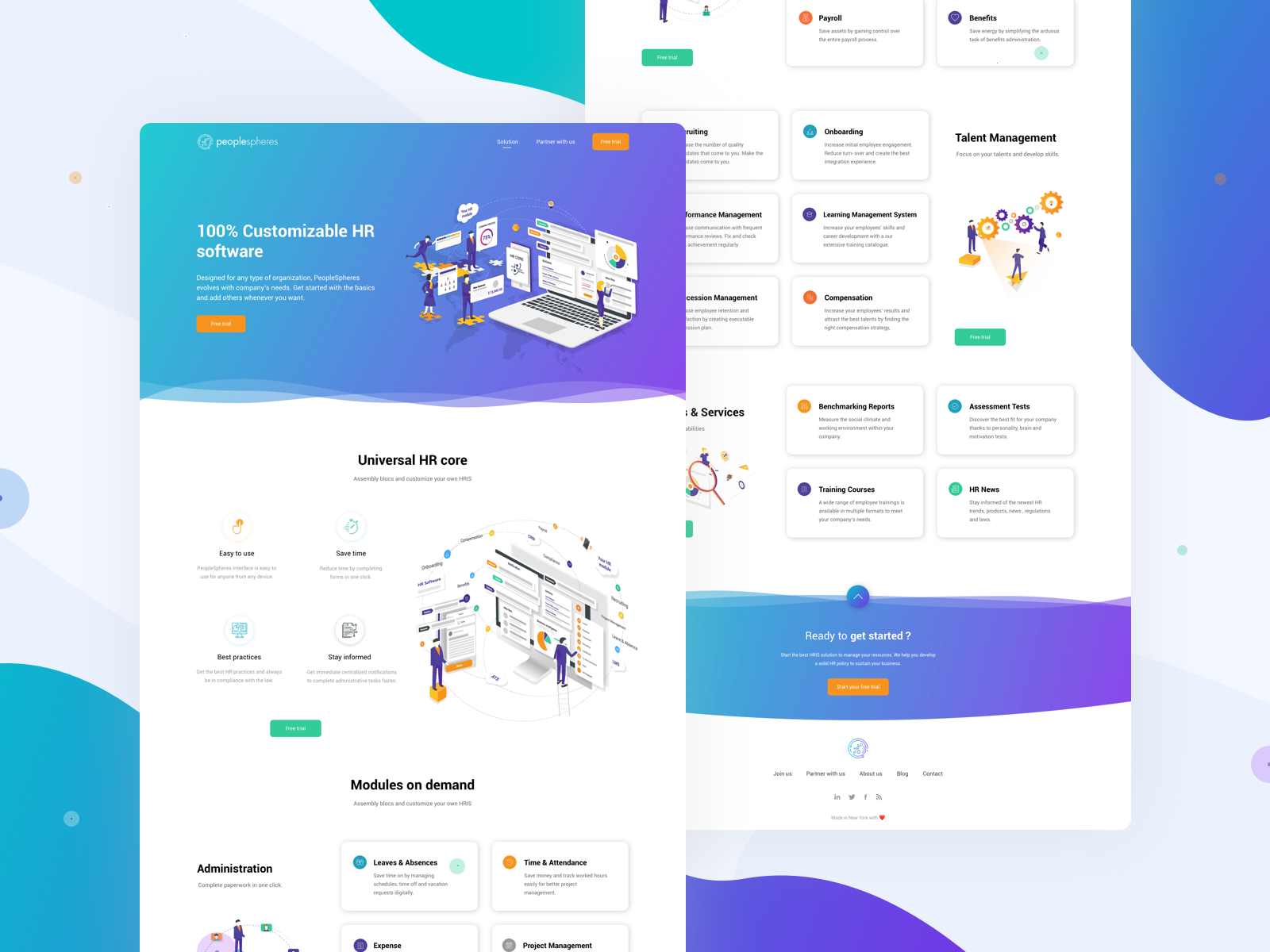 Peoplespheres web design   2