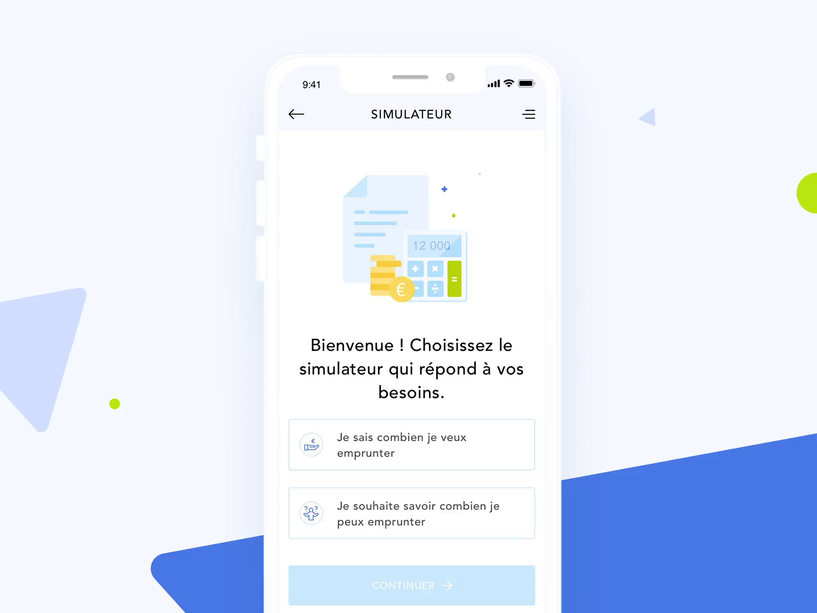 Online bank credit simulator animation design by Yifan Ding ⛵ on