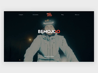 BeMojoo Website Animation safe security web agency night light helmet bicycle interaction animation
