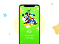 Disneyland Paris Game Onboarding - made with Figma disneyland character card game onboarding interaction animation interaction