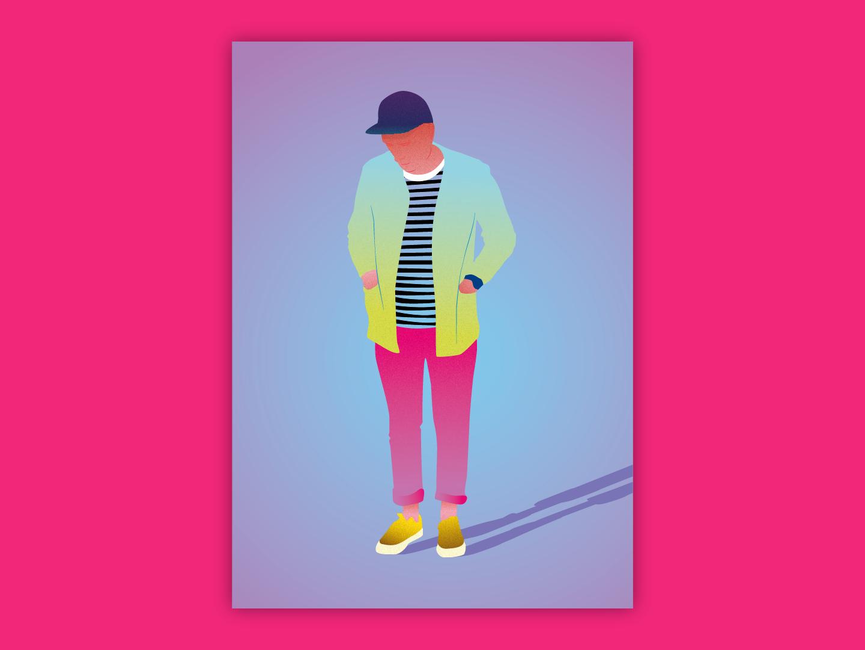 Vector Man 1 gradient colour illsutrator drawing figure drawing vector illustration