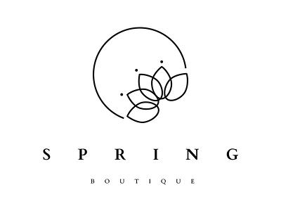Spring boutique logo beauty design lotype logo