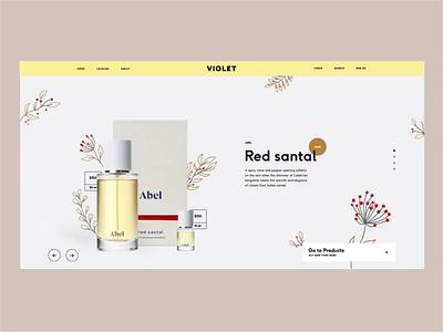 Violet. Main banner animation desktop webdesign website ux ui beauty template motion cs-cart perfume fashion ecommerce banner