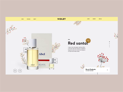 Violet. Main banner animation desktop webdesign website ux ui beauty template motion cs-cart perfume fashion ecommerce banner
