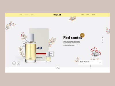 Violet. Home page template for CS-Cart webdesign fashion cs-cart desktop motion template butterfly flower store illustration ux ui make up perfume home page design beauty ecommerce