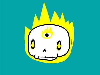 Craneo Ojo illustration design vector ilustracion concept character scull