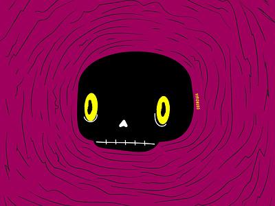 Cráneo negro visionudo art concept character vector