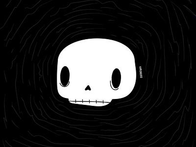 Cráneo cráneo craneo bones visionudo design ilustracion illustration concept character vector