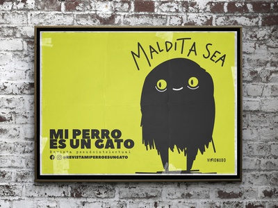 Maldita sea/Mi perro es un gato art concept cat branding design visionudo illustration character vector ilustracion