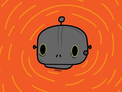 Cráneo Robot I art design concept visionudo vector illustration character ilustracion