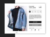 DailyUI 012 - E-Commerce Shop
