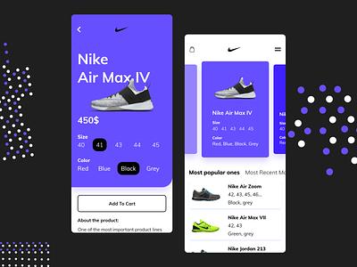 Shopping app concept minimal website animation web app vector ui ux design adobexd