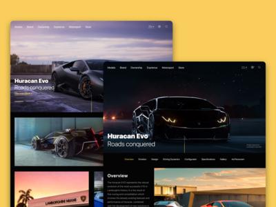 Lamborghini's website redesign process
