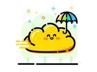 Yellow Cloud with umbrella